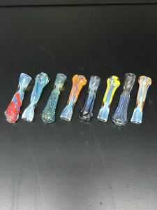 Multihued Glass Chillum 2.5in